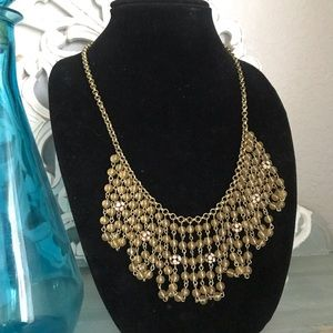 J. Crew Statement Chandelier Beaded Necklace